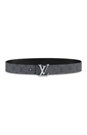Мужской двусторонний ремень lv initiales LOUIS VUITTON серого цвета, арт. M0285T | Фото 1