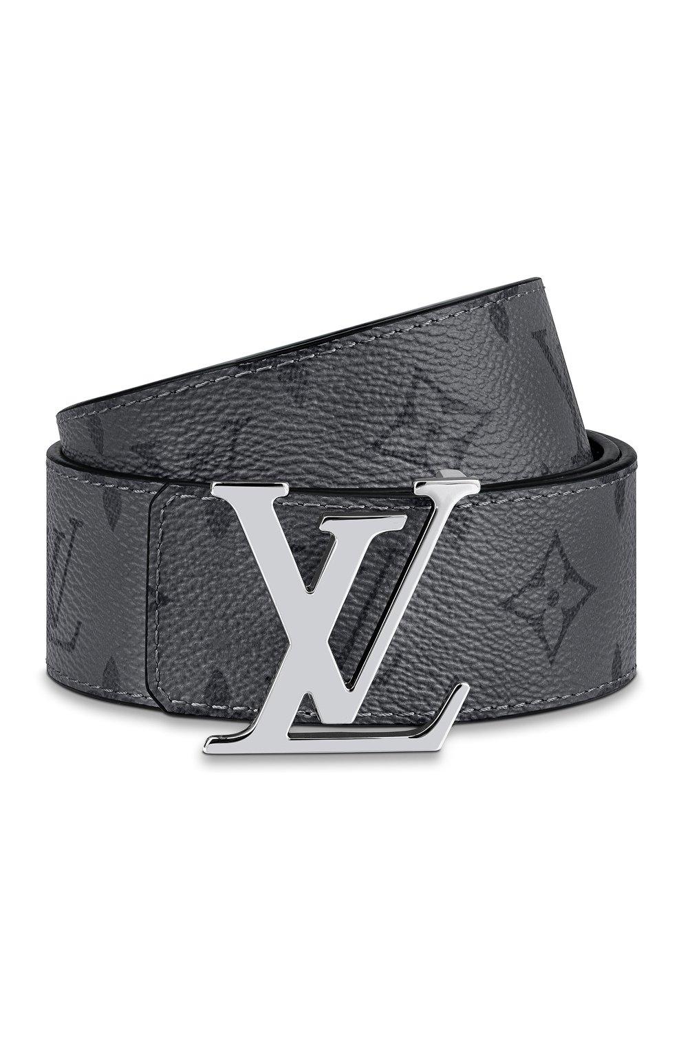 Мужской двусторонний ремень lv initiales LOUIS VUITTON серого цвета, арт. M0285T | Фото 3 (Случай: Повседневный)