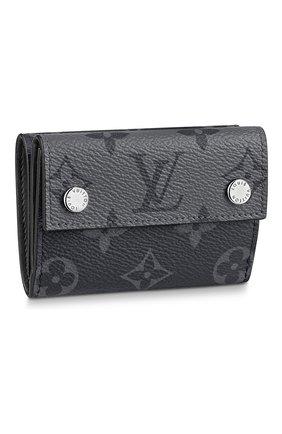 Мужской портмоне discovery compact LOUIS VUITTON темно-серого цвета, арт. M45417 | Фото 1 (Материал: Экокожа)