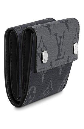 Мужской портмоне discovery compact LOUIS VUITTON темно-серого цвета, арт. M45417 | Фото 2 (Материал: Экокожа)