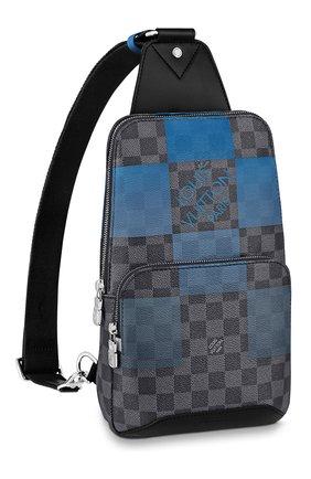 Мужской сумка-слинг avenue LOUIS VUITTON синего цвета, арт. N40404 | Фото 1