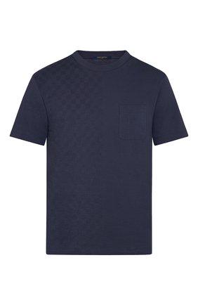 Мужская хлопковая футболка LOUIS VUITTON синего цвета, арт. 1A7XE1 | Фото 1