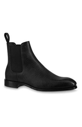 Мужские кожаные челси minister LOUIS VUITTON черного цвета, арт. 1A7WXS | Фото 1