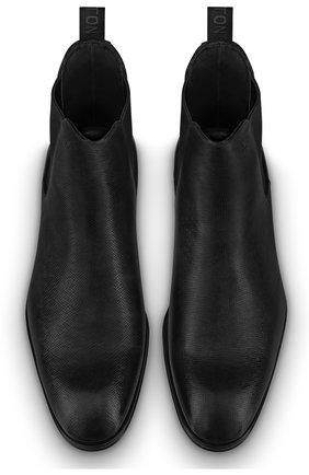 Мужские кожаные челси minister LOUIS VUITTON черного цвета, арт. 1A7WXS | Фото 2