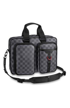 Мужская сумка для ноутбука utility LOUIS VUITTON серого цвета, арт. N40278 | Фото 1