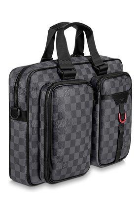 Мужская сумка для ноутбука utility LOUIS VUITTON серого цвета, арт. N40278 | Фото 2