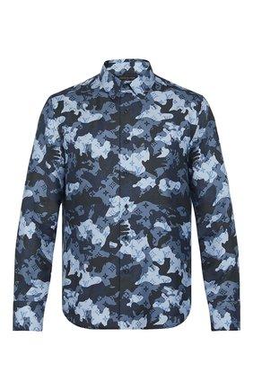 Мужская шелковая рубашка LOUIS VUITTON серого цвета, арт. 1A7XVH | Фото 1