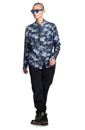 Мужская шелковая рубашка LOUIS VUITTON серого цвета, арт. 1A7XVH | Фото 2