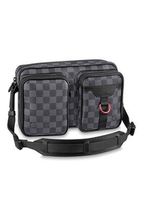 Мужская сумка utility LOUIS VUITTON серого цвета, арт. N40280 | Фото 1 (Материал: Натуральная кожа)