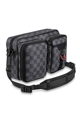 Мужская сумка utility LOUIS VUITTON серого цвета, арт. N40280 | Фото 2 (Материал: Натуральная кожа)