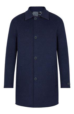 Мужской шерстяное двустороннее пальто LOUIS VUITTON темно-синего цвета, арт. 1A7WYA | Фото 1