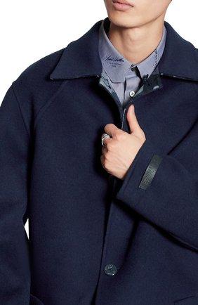 Мужской шерстяное двустороннее пальто LOUIS VUITTON темно-синего цвета, арт. 1A7WYA | Фото 2