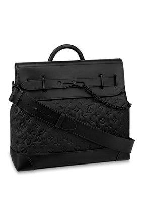 Мужская сумка steamer LOUIS VUITTON черного цвета, арт. M55701   Фото 1