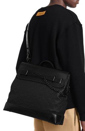 Мужская сумка steamer LOUIS VUITTON черного цвета, арт. M55701   Фото 2