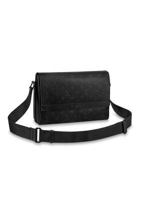 Мужская кожаная сумка-мессенджер sprinter LOUIS VUITTON черного цвета, арт. M44729   Фото 1