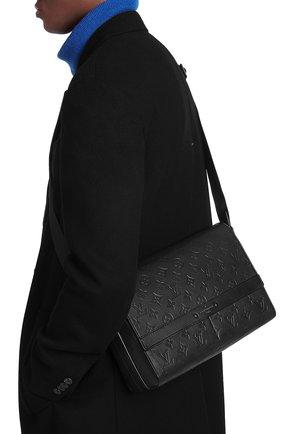 Мужская кожаная сумка-мессенджер sprinter LOUIS VUITTON черного цвета, арт. M44729   Фото 2