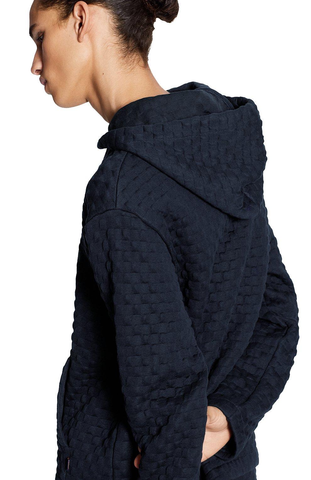 Мужской хлопковая толстовка LOUIS VUITTON темно-синего цвета, арт. 1A7X68   Фото 5 (Мужское Кросс-КТ: Толстовка-одежда; Материал внешний: Хлопок; Стили: Кэжуэл)