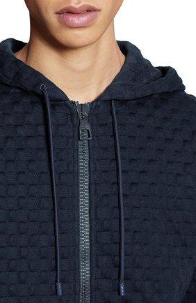 Мужской хлопковая толстовка LOUIS VUITTON темно-синего цвета, арт. 1A7X68   Фото 6 (Мужское Кросс-КТ: Толстовка-одежда; Материал внешний: Хлопок; Стили: Кэжуэл)