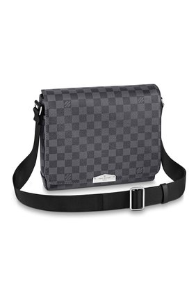 Мужская сумка district pm LOUIS VUITTON темно-серого цвета, арт. N40349 | Фото 1 (Материал: Натуральная кожа)