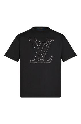 Мужская хлопковая футболка LOUIS VUITTON черного цвета, арт. 1A83R4 | Фото 1