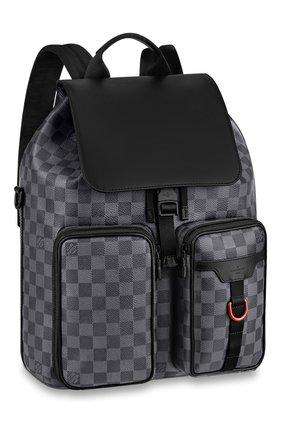 Мужской рюкзак utility LOUIS VUITTON серого цвета, арт. N40279 | Фото 1