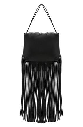 Женский сумка fringe pouch BOTTEGA VENETA черного цвета, арт. 630363/VCP40 | Фото 1