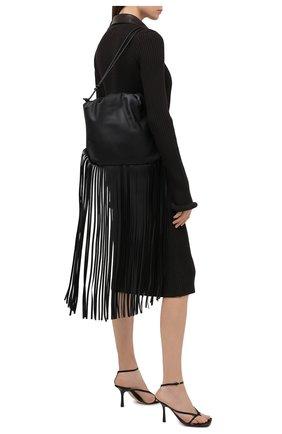 Женский сумка fringe pouch BOTTEGA VENETA черного цвета, арт. 630363/VCP40 | Фото 2