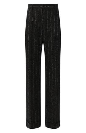 Женские брюки из шерсти и хлопка DOLCE & GABBANA черного цвета, арт. FTBWKT/FRMDW | Фото 1
