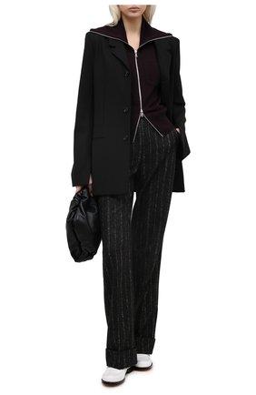 Женские брюки из шерсти и хлопка DOLCE & GABBANA черного цвета, арт. FTBWKT/FRMDW | Фото 2