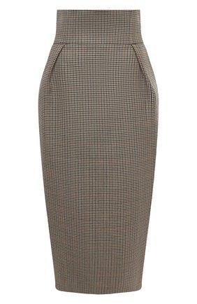 Женская шерстяная юбка ALEXANDRE VAUTHIER бежевого цвета, арт. 203SK1305 1322-203 | Фото 1