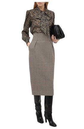 Женская шерстяная юбка ALEXANDRE VAUTHIER бежевого цвета, арт. 203SK1305 1322-203 | Фото 2