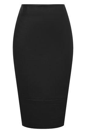 Женская кожаная юбка KITON хаки цвета, арт. D50271X05S03 | Фото 1
