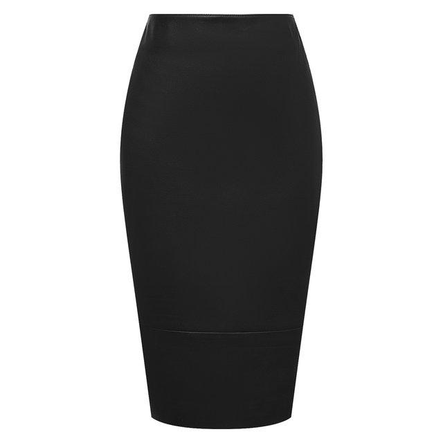 Кожаная юбка Kiton