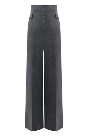 Женские шерстяные брюки FENDI серого цвета, арт. FR6273 AC2Q | Фото 1