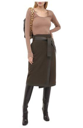 Женская шерстяная юбка TOM FORD хаки цвета, арт. GCJ265-FAX698 | Фото 2