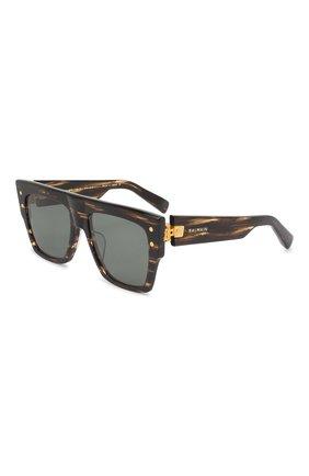 Женские солнцезащитные очки BALMAIN черного цвета, арт. BPS-100B-56 | Фото 1
