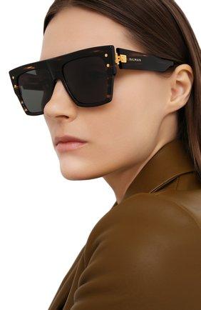 Женские солнцезащитные очки BALMAIN черного цвета, арт. BPS-100B-56 | Фото 2