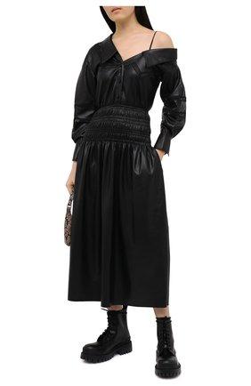 Женское платье SELF-PORTRAIT черного цвета, арт. AW20-069 | Фото 2
