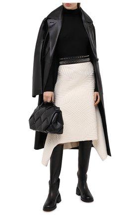 Женская шерстяная юбка ALEXANDER MCQUEEN белого цвета, арт. 641897/Q1AR0   Фото 2