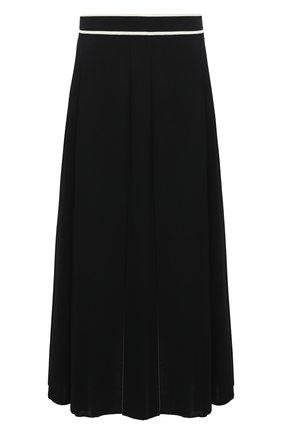 Женская юбка из вискозы GUCCI черного цвета, арт. 629429/XKBBZ   Фото 1