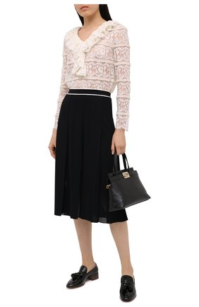 Женская юбка из вискозы GUCCI черного цвета, арт. 629429/XKBBZ   Фото 2