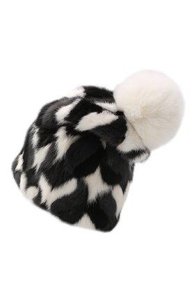 Женская шапка из меха норки KUSSENKOVV разноцветного цвета, арт. 50100055205 | Фото 2