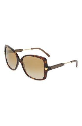 Женские солнцезащитные очки VERSACE темно-коричневого цвета, арт. 4390-108/6E   Фото 1