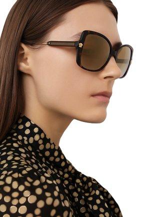 Женские солнцезащитные очки VERSACE темно-коричневого цвета, арт. 4390-108/6E   Фото 2