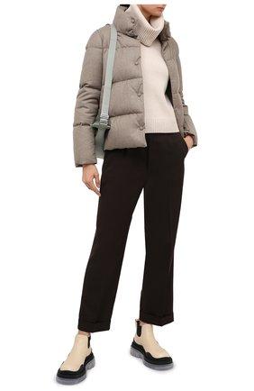 Женский пуховая куртка ADD бежевого цвета, арт. 2AWA60 | Фото 2