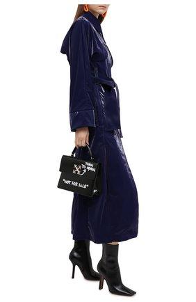 Женские кожаные ботильоны VETEMENTS черного цвета, арт. WAH21B0201 2467   Фото 2