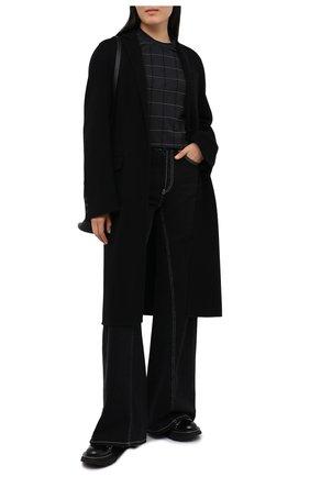 Женская хлопковая футболка BRUNELLO CUCINELLI черного цвета, арт. M0T18BE100 | Фото 2