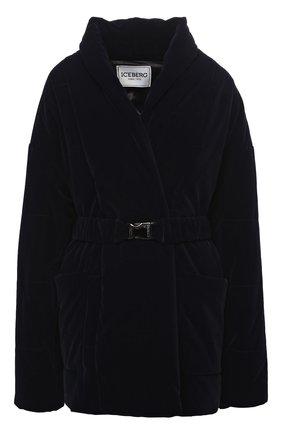 Женская куртка ICEBERG темно-синего цвета, арт. 20I I2P0/J021/5A44 | Фото 1