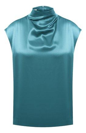 Женская топ из вискозы DRIES VAN NOTEN бирюзового цвета, арт. 202-10756-1042 | Фото 1