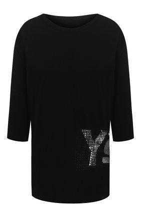 Женская хлопковая футболка Y`S черного цвета, арт. YB-T02-670 | Фото 1